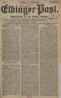 Elbinger Post, Nr. 1 Dienstag 1 Januar 1878, 5 Jahrg.