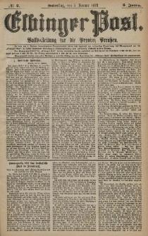 Elbinger Post, Nr. 2 Donnerstag 3 Januar 1878, 5 Jahrg.