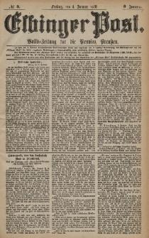 Elbinger Post, Nr. 3 Freitag 4 Januar 1878, 5 Jahrg.