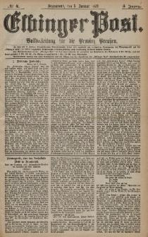 Elbinger Post, Nr. 4 Sonnabend 5 Januar 1878, 5 Jahrg.