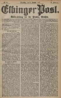 Elbinger Post, Nr. 5 Sonntag 6 Januar 1878, 5 Jahrg.