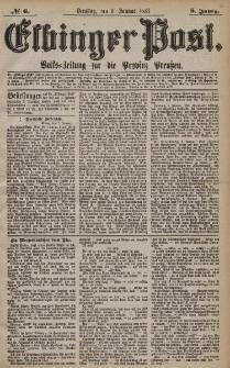 Elbinger Post, Nr. 6 Dienstag 8 Januar 1878, 5 Jahrg.