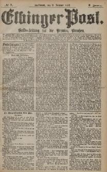 Elbinger Post, Nr. 7 Mittwoch 9 Januar 1878, 5 Jahrg.