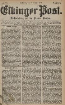 Elbinger Post, Nr. 13 Mittwoch 16 Januar 1878, 5 Jahrg.
