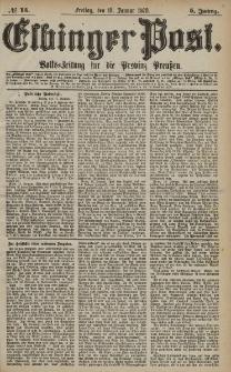 Elbinger Post, Nr. 15 Freitag 18 Januar 1878, 5 Jahrg.