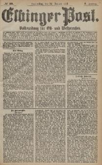 Elbinger Post, Nr. 20 Donnerstag 24 Januar 1878, 5 Jahrg.