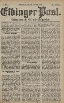 Elbinger Post, Nr. 22 Sonnabend 26 Januar 1878, 5 Jahrg.