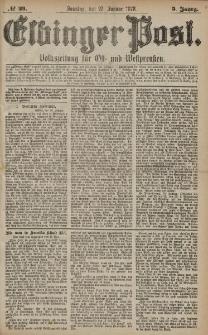 Elbinger Post, Nr. 23 Sonntag 27 Januar 1878, 5 Jahrg.