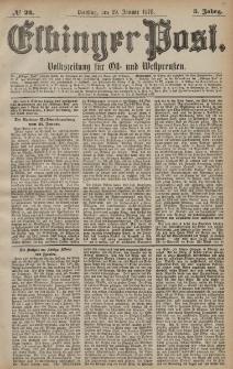 Elbinger Post, Nr. 24 Dienstag 29 Januar 1878, 5 Jahrg.