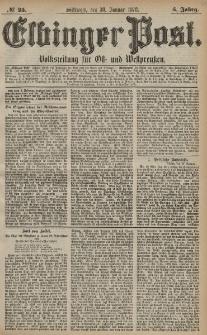 Elbinger Post, Nr. 25 Mittwoch 30 Januar 1878, 5 Jahrg.