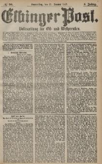 Elbinger Post, Nr. 26 Donnerstag 31 Januar 1878, 5 Jahrg.