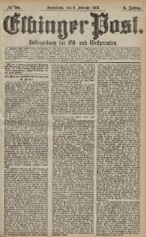 Elbinger Post, Nr. 28 Sonnabend 2 Februar 1878, 5 Jahrg.