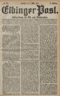 Elbinger Post, Nr. 53 Sonntag 3 März 1878, 5 Jahrg.