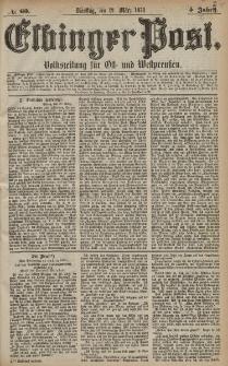 Elbinger Post, Nr. 60 Dienstag 12 März 1878, 5 Jahrg.