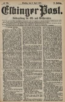 Elbinger Post, Nr. 78 Dienstag 2 April 1878, 5 Jahrg.