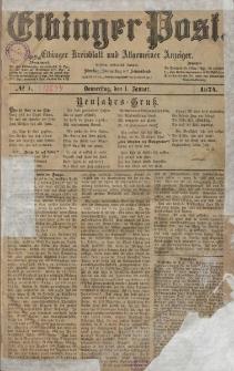 Elbinger Post, Nr. 1, Donnerstag 1 Januar 1874, 41 Jh