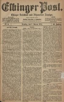 Elbinger Post, Nr. 3, Dienstag 6 Januar 1874, 41 Jh
