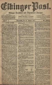 Elbinger Post, Nr. 7, Donnerstag 15 Januar 1874, 41 Jh