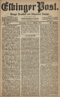 Elbinger Post, Nr. 19, Donnerstag 12 Februar 1874, 41 Jh