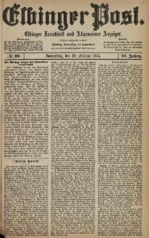 Elbinger Post, Nr. 22, Donnerstag 19 Februar 1874, 41 Jh