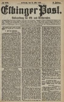 Elbinger Post, Nr. 113 Mittwoch 15 Mai 1878, 5 Jahrg.