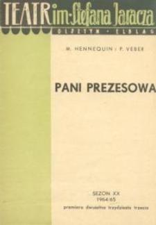 Pani Prezesowa (La Presidente) - program teatralny