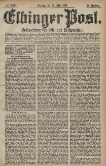 Elbinger Post, Nr. 120 Freitag 24 Mai 1878, 5 Jahrg.