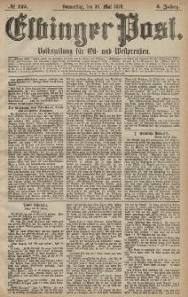 Elbinger Post, Nr. 125 Donnerstag 30 Mai 1878, 5 Jahrg.