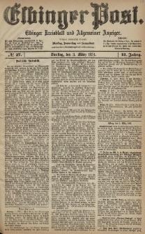 Elbinger Post, Nr. 27, Dienstag 3 März 1874, 41 Jh