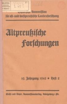 Altpreussische Forschungen, 19. Jahrgang 1942, H. 2
