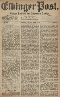 Elbinger Post, Nr. 32, Sonnabend 14 März 1874, 41 Jh