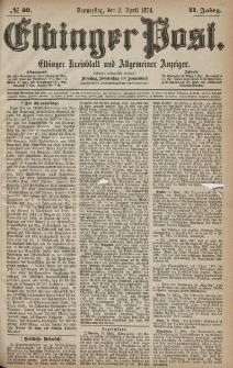 Elbinger Post, Nr. 40, Donnerstag 2 April 1874, 41 Jh