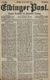 Elbinger Post, Nr. 44, Dienstag 14 April 1874, 41 Jh