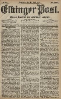 Elbinger Post, Nr. 45, Donnerstag 16 April 1874, 41 Jh
