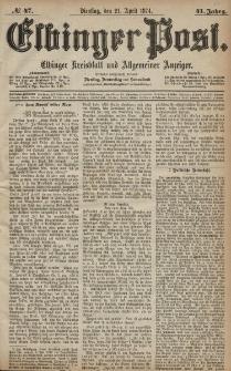 Elbinger Post, Nr. 47, Dienstag 21 April 1874, 41 Jh