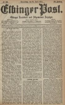 Elbinger Post, Nr. 48, Donnerstag 23 April 1874, 41 Jh