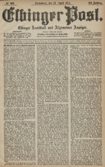 Elbinger Post, Nr. 49, Sonnabend 25 April 1874, 41 Jh