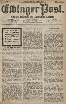 Elbinger Post, Nr. 50, Dienstag 28 April 1874, 41 Jh