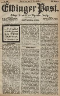 Elbinger Post, Nr. 51, Donnerstag 30 April 1874, 41 Jh