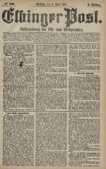 Elbinger Post, Nr. 128 Dienstag 4 Juni 1878, 5 Jahrg.