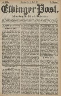 Elbinger Post, Nr. 133 Sonntag 9 Juni 1878, 5 Jahrg.
