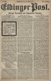Elbinger Post, Nr. 63, Sonnabend 30 Mai 1874, 41 Jh