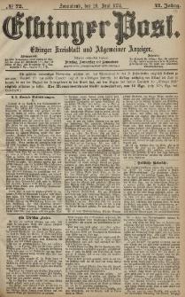 Elbinger Post, Nr. 72, Sonnabend 20 Juni 1874, 41 Jh