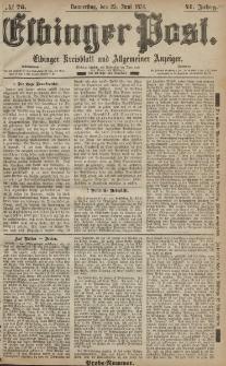 Elbinger Post, Nr. 76, Dienstag 25 Juni 1874, 41 Jh