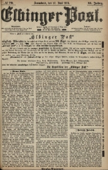 Elbinger Post, Nr. 78, Sonnabend 27 Juni 1874, 41 Jh