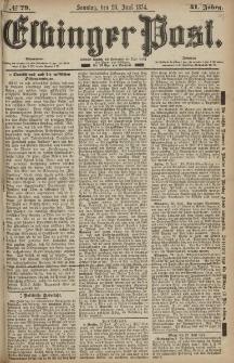 Elbinger Post, Nr. 79, Sonntag 28 Juni 1874, 41 Jh