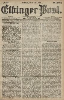 Elbinger Post, Nr. 81, Mittwoch 1 Juli 1874, 41 Jh