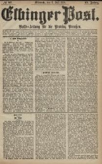 Elbinger Post, Nr. 87, Mittwoch 8 Juli 1874, 41 Jh