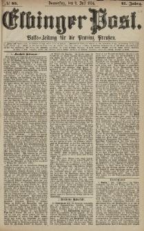 Elbinger Post, Nr. 88, Donnerstag 9 Juli 1874, 41 Jh