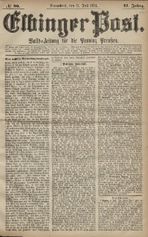 Elbinger Post, Nr. 90, Sonnabend 11 Juli 1874, 41 Jh